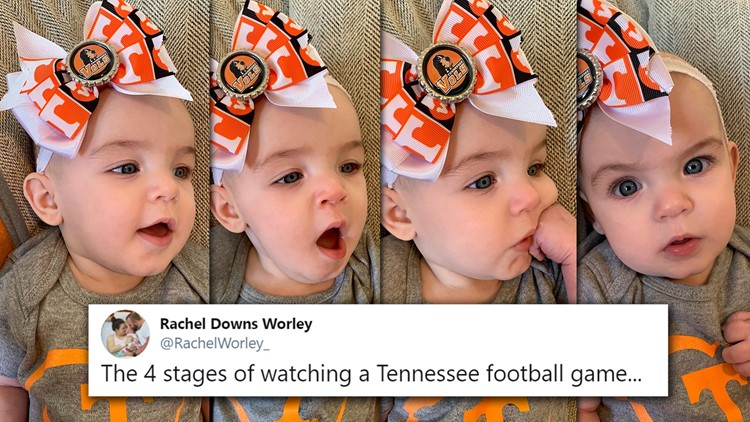 Four Stages of Watching Tennessee Football Rachel Downs Worley