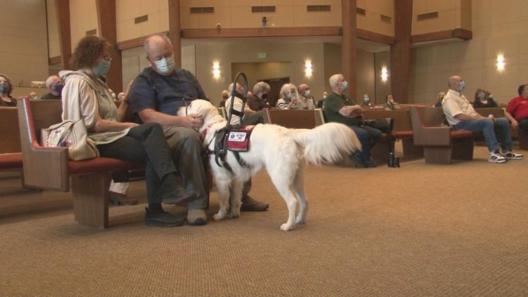 9/11 survivor and combat veteran gifted new service dog 'Hondo'