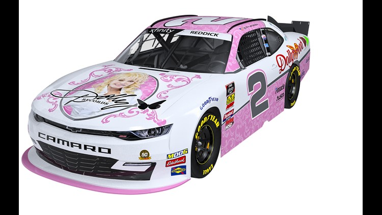 Dolly is going to be on a racecar at Bristol, baby!