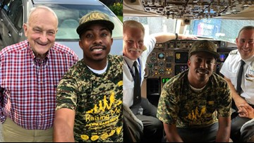Delta just flew this man to Alaska, Hawaii so he could mow lawns for military vets in all 50 states