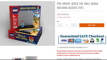 Pro-Trump website selling 'Build the Wall' toy set for kids
