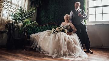 Grandparents stun the internet in 60th anniversary photo shoot
