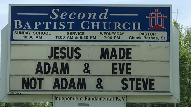 Anti-gay church sign  receives backlash