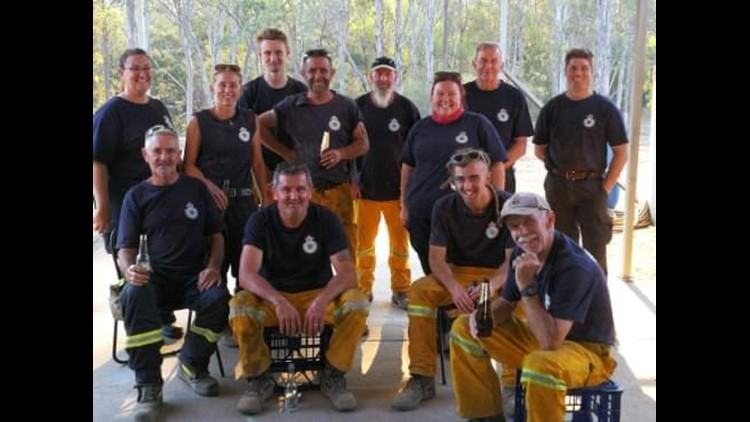 Firefighters helped by Thraves