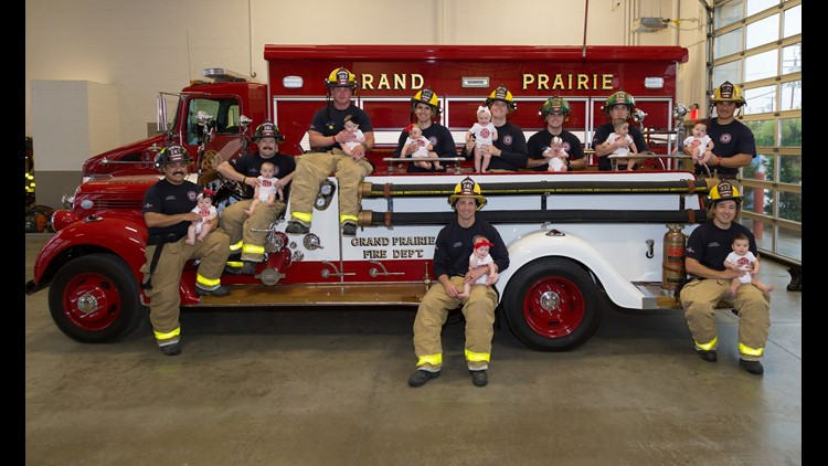 grand prairie fire baby shoot