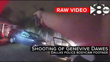 Raw video: Dallas officer fires 13 times, killing 21-year-old woman