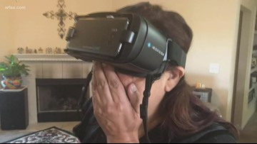 Woman uses vision goggles to see Christmas tree for the first time in nearly 13 years
