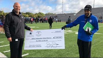 Jerry Jones just donated $1 million to Thomas Jefferson High School