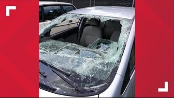 'I'm going to start smashing it' | Good Samaritan uses ax to break car windshield, saving man trapped in floodwaters