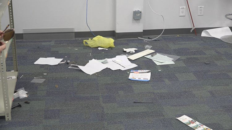 Papers on the ground