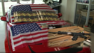 Car dealership gives customers Bible, flag and AR gun voucher with every purchase