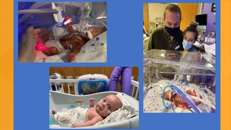Micro-preemie goes home in time for Mother's Day after 169 days in the NICU