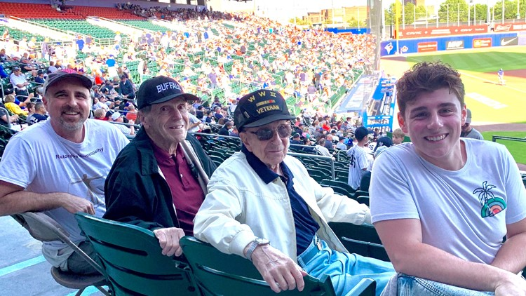 Blue Jays gift 99-year-old World War II veteran with tickets to game in Buffalo