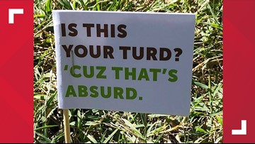 'Is this your turd?': City's cleanup crew flags dog poop