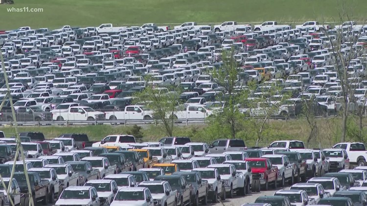 Thousands of new Ford trucks are at Kentucky Speedway and it has nothing to do with racing