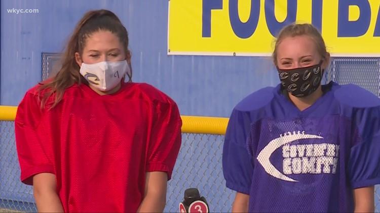 Two Ohio girls make high school football team, kicking their way into school history