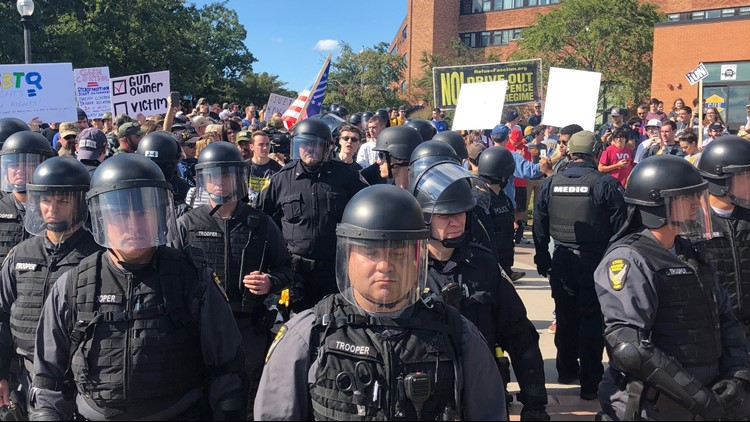 Opposing sides clash at Kent State University open carry walk hosted by former student