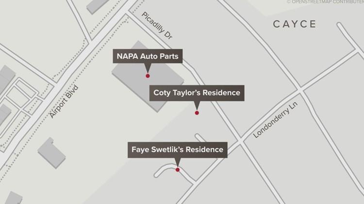 map locations faye swetlik coty taylor
