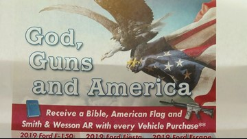 'God, guns, America:' Ford dealership offers Bible, AR-15 if you buy a car