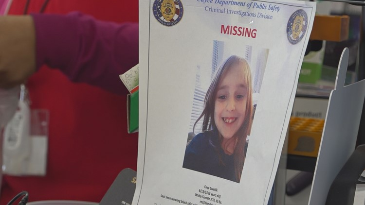 Faye Swetlik Missing Poster