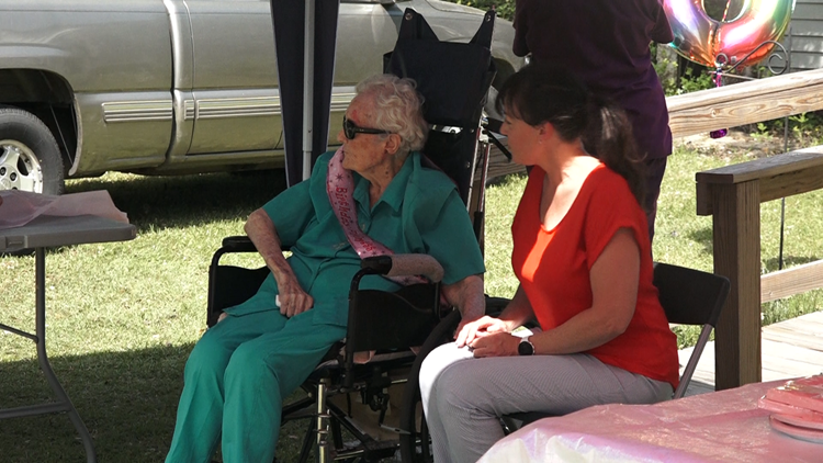 Rowesville woman turns 100 and the town turns out