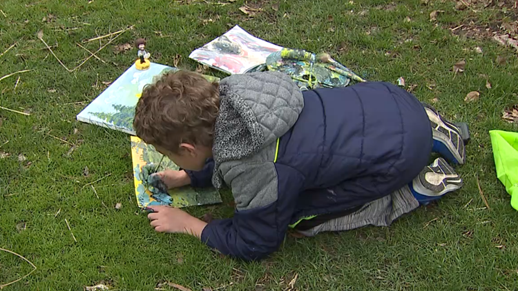 8-year-old Bob Ross fan gets his own art exhibition
