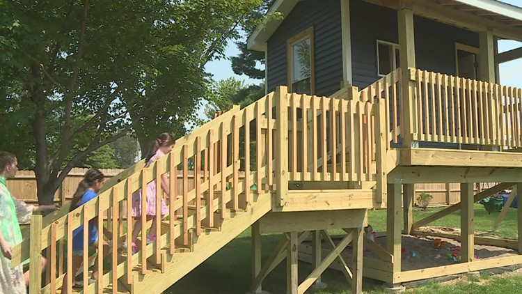 Make-A-Wish grants child's dream treehouse