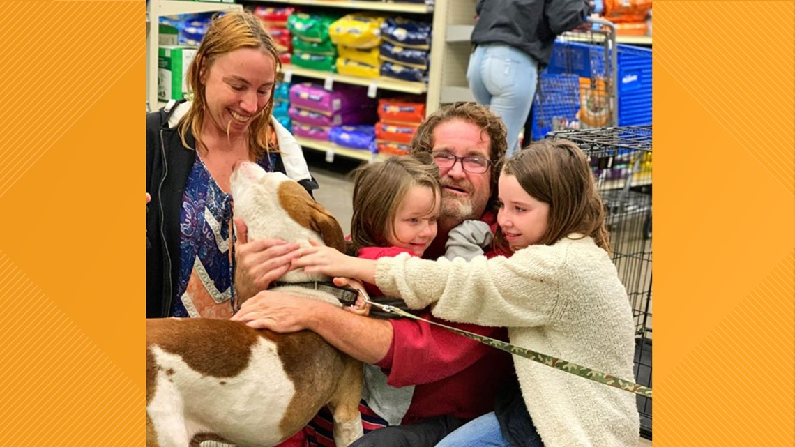 'That's my Dopey!' Family reunited with lost dog at Jacksonville Humane Society event