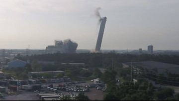 WATCH: Final implosion of Jacksonville power park