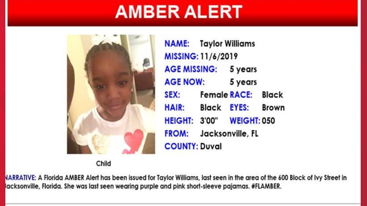 Amber Alert Taylor Williams