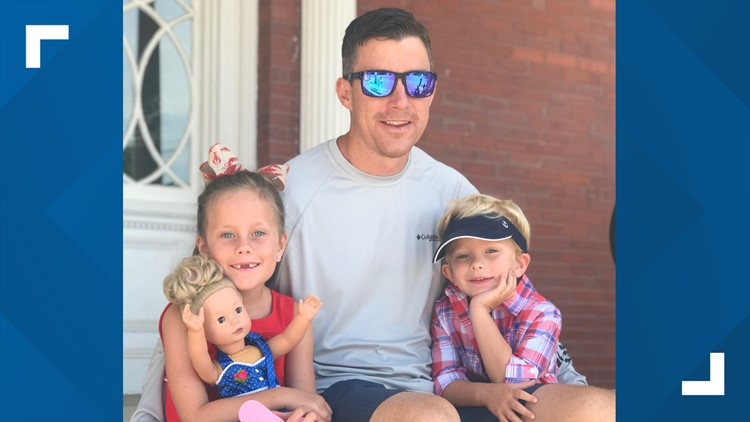 Brian McCluney with his children