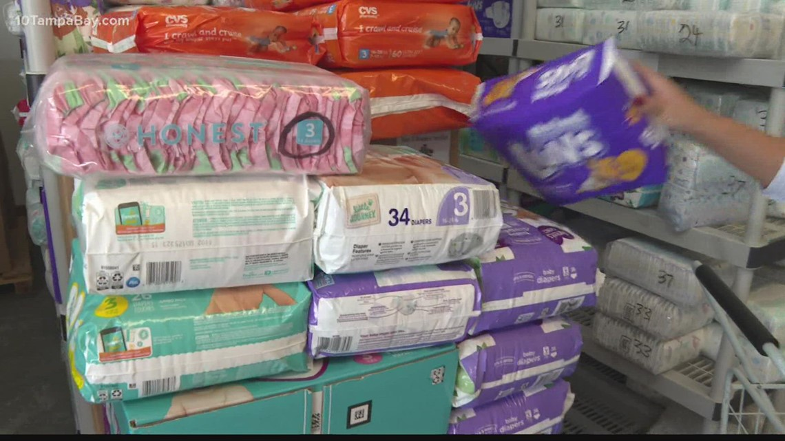 A diaper supply shortage is putting the squeeze on Tampa Bay area families