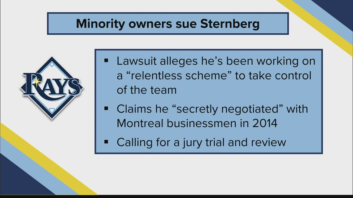 Rays minority owners sue Stuart Sternberg over alleged scheme to 'squeeze' them out