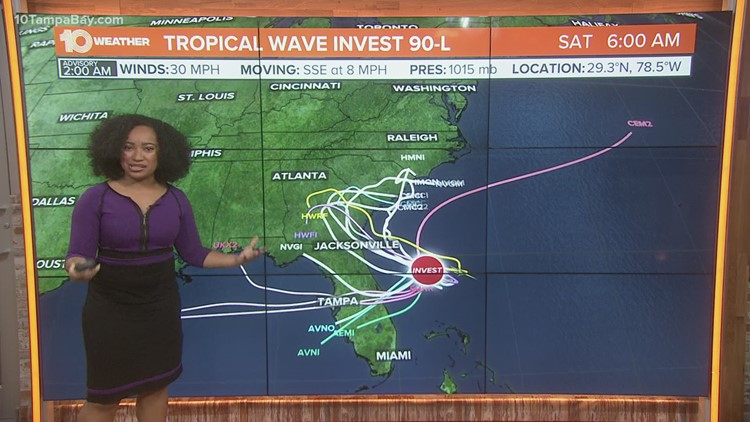 NHC now tracking Invest 90-L