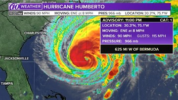 Tracking Hurricane Humberto: Spaghetti models, location and more