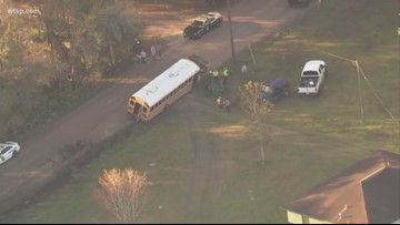3 injured when Pasco school bus crashes into ditch