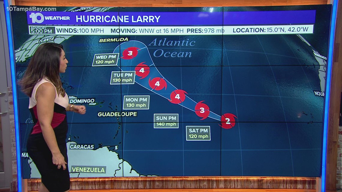 National Hurricane Center: Larry 'poised to intensify further'