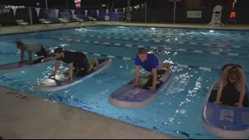 Stand-up paddleboard yoga offered in Tampa