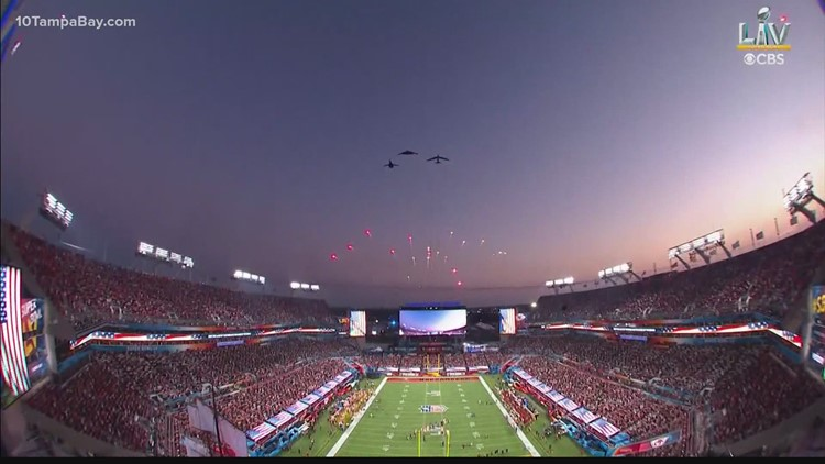 This is what it was like for the pilots flying over Super Bowl LV