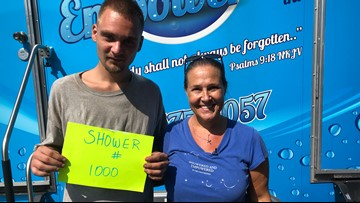 St. Pete woman hits goal of 1,000 showers for people who are homeless