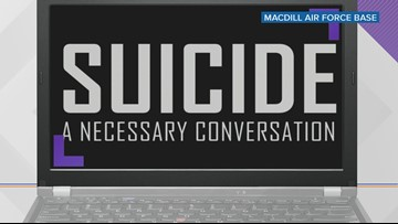 MacDill takes a break from daily operations to talk suicide