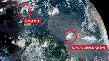 There are 2 tropical disturbances worth watching