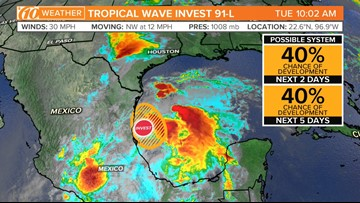 Meteorologists track system that'll bring heavy rain to the Gulf Coast