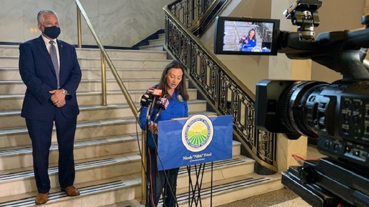 Agriculture Commissioner Nikki Fried promotes initiative in St. Pete to combat red tide