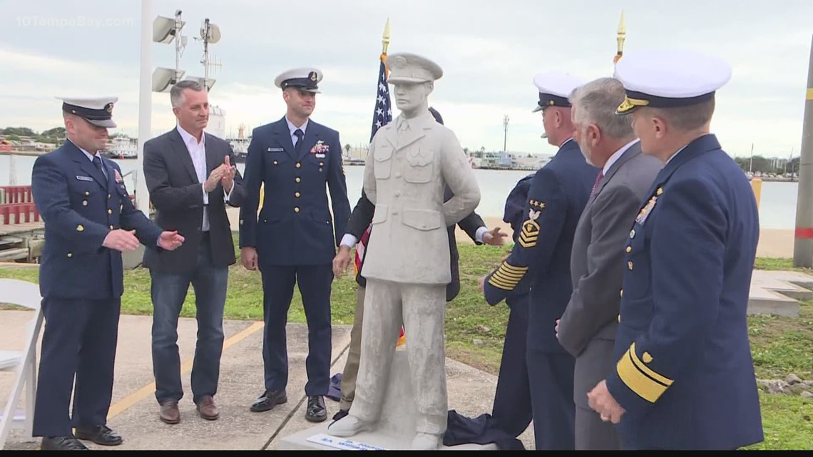 Veteran posthumously honored with personalized statue at Circle of Heroes dive site
