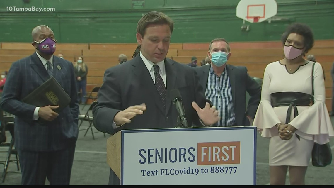 DeSantis predicts more Floridians will be able to be vaccinated in March