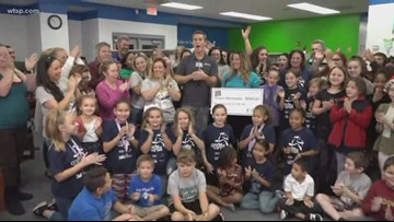 Duke Energy presents check to Chasco Elementary School