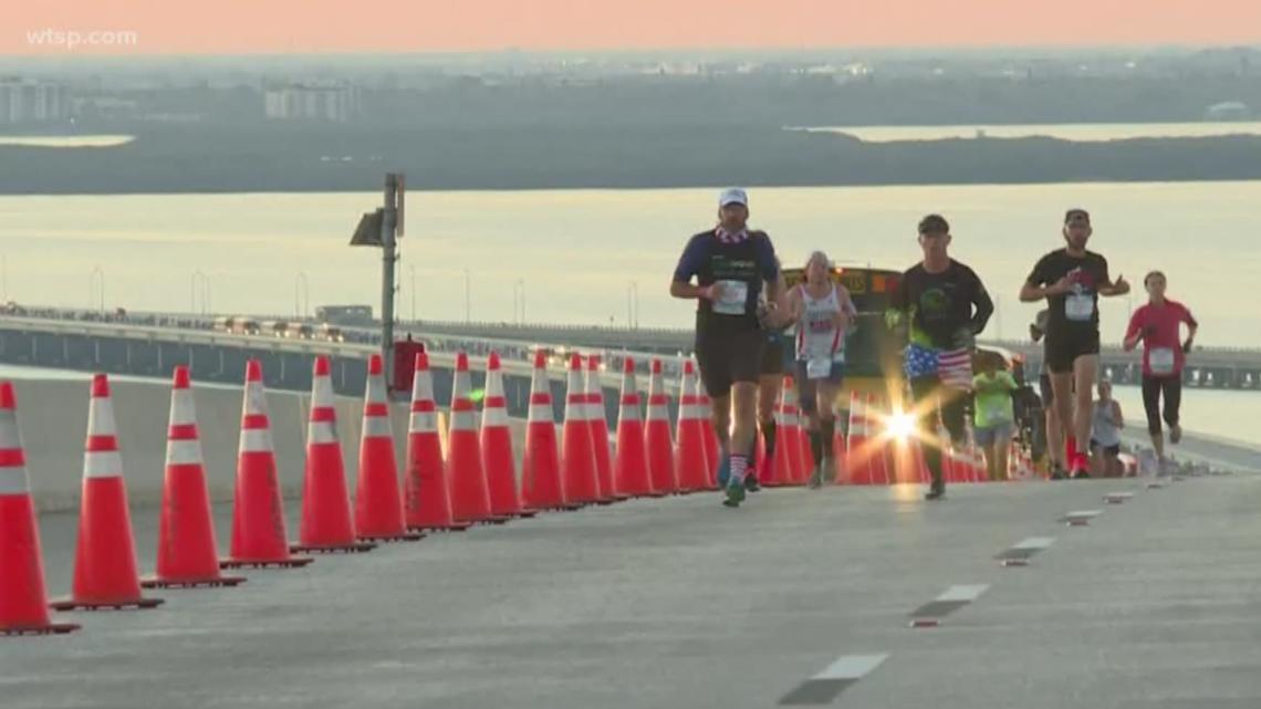 Thousands race over the Sunshine Skyway Bridge for the 2020 Skyway 10K