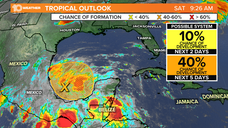 Tropical development possible soon in the Gulf of Mexico