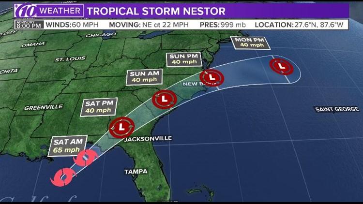 Tropical Storm Nestor Forecast